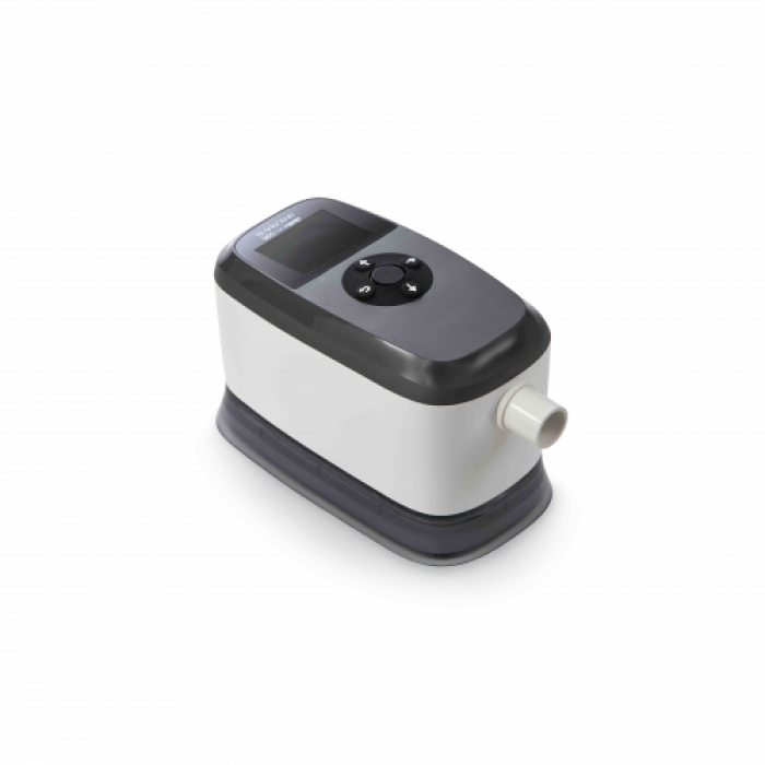 Transcend 365 miniCPAP Auto Machine with Integrated Heated Humidifier Left Side Top View